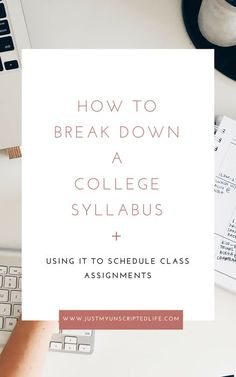 Now that fall 2018 has officially started, make sure you've got your college syllabus broken down. Here are some great tips to help you use your syllabus to stay organized and never miss an assignment due date College Life Hacks, College Snacks, College Classes, College Fun, Education College, College Tips, College Students, Physical Education, College Checklist