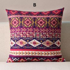 Geometric throw pillow abstract Ethnic Style couch cushions 18 inch