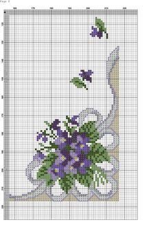 Violet bouquet chart