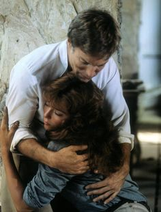 "Richard Chamberlain and Rachel Ward in a scene from the television mini series ""The Thornbirds"""