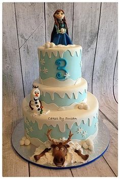"""Frozen"" the movie cake"