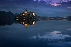 Blue Bled by Adnan Bubalow on Amazing Places, Beautiful Places, Bled Slovenia, Our Planet Earth, Lake Bled, Landscape Photographers, National Geographic, Istanbul, Rome