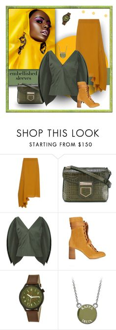 """Wings of Green"" by michelletheaflack ❤ liked on Polyvore featuring Marni, Givenchy, Rosie Assoulin, Chloé, Morphic, polyvorecontests, styleinsider and embellishedsleeves"