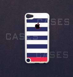 Ipod Touch 5 Case -  Blue Striped Ipod Touch 5 Cover, Pretty 5th gen ipod Touch Case. $14.99, via Etsy.