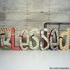 The Wood Connection - Blessed Letter Set , $17.95 (http://thewoodconnection.com/blessed-letter-set/)