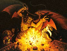 Tim and Greg Hildebrandt - Balrog, Lord Of The Rings