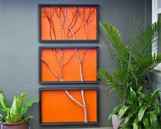 How to make an artwork (using a branch): Hankering for that special something to personalize a favorite space? Using basic materials and a garden branch, you can create a striking triptych – a triple-paneled picture where the content extends from one frame to the next.