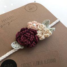Crochet Hair Clips, Crochet Flower Headbands, Crochet Bows, Cotton Crochet, Crochet Beanie, Crochet Hair Styles, Thread Crochet, Crochet Yarn, Crochet Flowers