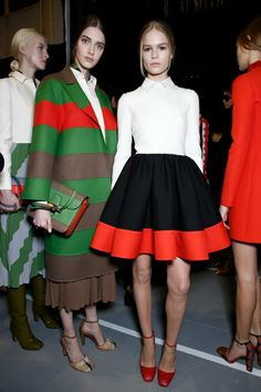 amazing Valentino skirt! and whole look