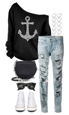 """""""Untitled #3087"""" by meandelstyle ❤ liked on Polyvore featuring rag & bone, Converse, Ray-Ban and ASOS"""