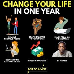 A lot can happen in a year, change it to the better by removing/doing these things. - There's always things you can do to improve yourself. Motivation Positive, Business Motivation, Business Quotes, Quotes Motivation, Personal Development Skills, Self Development, 6 Sigma, Citations Business, Finance