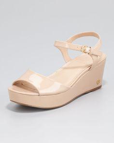 Tory Burch Abena Flatform Wedge Sandals in Beige (tory beige) - Lyst