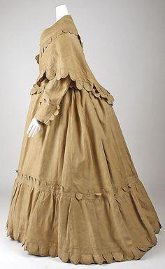 Dress, early 1870, linen