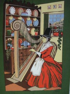 Traditional Welsh costume, Celtic harp