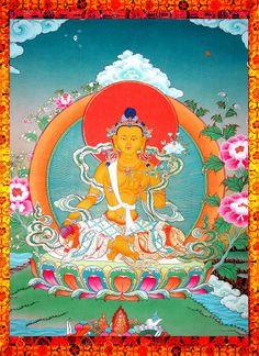 Thangka Art - Ksitigarbha 地藏王菩薩