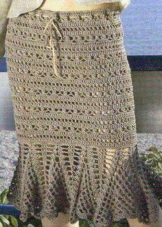 Fabulous Crochet a Little Black Crochet Dress Ideas. Georgeous Crochet a Little Black Crochet Dress Ideas. Black Crochet Dress, Crochet Skirts, Knit Skirt, Crochet Clothes, Knit Crochet, Crochet Woman, Beautiful Crochet, Crochet Projects, Crochet Patterns