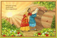online puzzelen -  jigsaw - De vrouwen bij  het geopende graf http://bijbelidee.nl/digipuzzels/