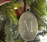 monogramed ornament
