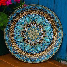 Декоративная тарелочка на заказ. Диаметр 26 см.