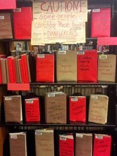 Banned Books Week YA Display 2013