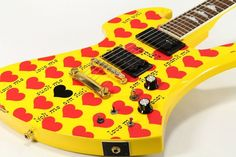 BURNY by Fernandes MG-145S HY Heart Yellow X JAPAN HIDE Model free shipping EMS…
