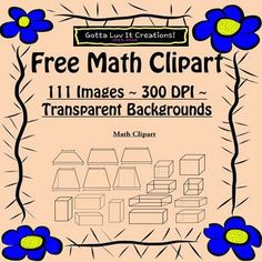 Math Clipart 111 images 300 dpi with transparent background. These images are…