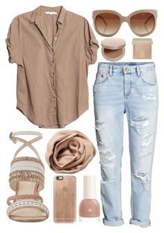 """""""Beige"""" by lauraleeanne ❤ liked on Polyvore featuring Nine West, Xirena, STELLA McCARTNEY, Brunello Cucinelli, Casetify, Eve Lom and Bobbi Brown Cosmetics"""