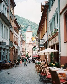 The cobblestone streets of Heidelberg, Germany