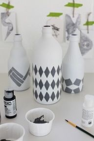 Painted Vases. #Home #Decor