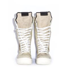 RICK OWENS ❤ liked on Polyvore featuring shoes, rick owens, laced up shoes, rick owens shoes, genuine leather shoes and laced shoes