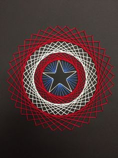 The best of DIY String Art Crafts Kids - Crafts Kit comes with the highest quality embroidery floss, HAND sanded and HAND stained wood board, metallic wire nails, pattern template, and easy instructions Nail String Art, String Crafts, Fun Crafts, Diy And Crafts, Arts And Crafts, String Art Templates, String Art Patterns, Arte Linear, Thread Art