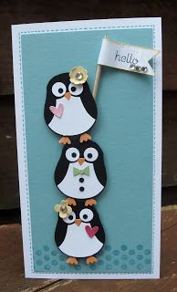 penguin trio.... card by Amanda Burditt