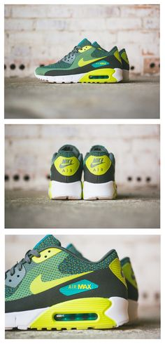 "Nike Air Max 90 Jacquard ""Venom Green"" Clothing, Shoes & Jewelry : Women : Shoes http://amzn.to/2kHQg0c"