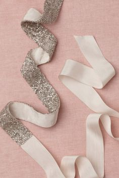 put glue on a ribbon and sprinkle glitter! Automatic headband glitz or sash...or whatever!