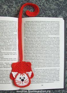 """Купить """"Игривые котята"""" вязаные закладки - котик, котенок, закладка, закладка для книг, подарок"""
