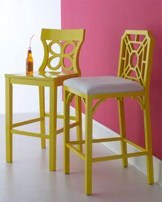 banquetas amarillas
