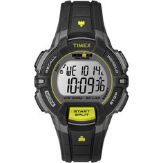 Timex Ironman 30 Lap Rugged Mid Size Watch - Black/Lime >>> You can get additional details at the image link.