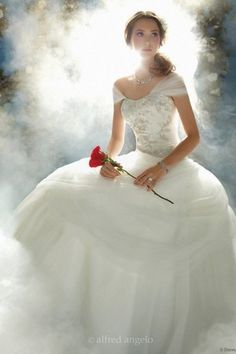 Wedding dress inspired by Belle from Beauty and the Beast by Alfred Angelo Belle