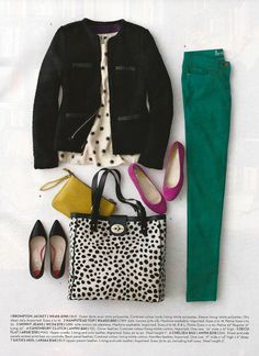 Love this entire outfit! The color and patterns are really cute!