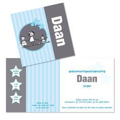 Geboortekaartje 'Daan'