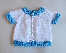 Ravelry: Short Sleeved Perfect Baby Boy or Girl Top Down DK Jacket pattern by marianna mel