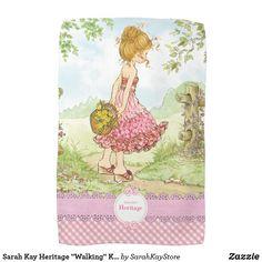 "Shop Sarah Kay Heritage ""Walking"" Kitchen Towel Pink created by SarahKayStore. Sarah Kay, Custom Christmas Cards, Walking, Sweet Pic, People Shopping, Detail Shop, Age, Holiday Photos, Unisex"