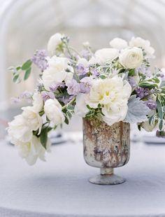 Modern lavender and copper wedding ideas