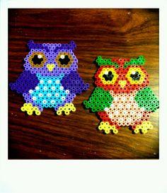 Hama ugler - Owls hama perler by Mia Rasmussen      perleplade man måske kunne lave