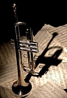 During the play the trumpet get louder in some parts and quiter in other parts. This happens because the writer is trying to show how dramatic and calm things are.