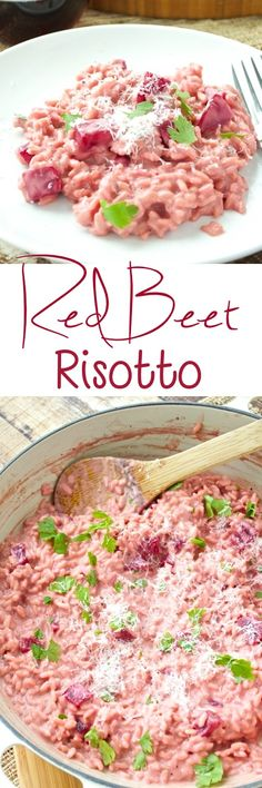 Sweet red beets add a beautiful pink hue to this risotto. Don't be intimidated by making risotto – it's easy! This would make a great addition to your Valentine's Day meal!