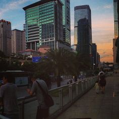 Sunset skies over futian CBD #shenzhen