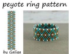 Beading pattern Peyote ring pattern Jewelry making diy beadweaving pattern Beading instructions PDF pattern handmade ring seed bead pattern Beaded Earrings Patterns, Peyote Patterns, Bracelet Patterns, Beading Patterns, Diy Rings, Beaded Rings, Custom Jewelry, Crochet Hats, Beaded Bracelets
