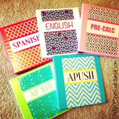 Preppy Binder Covers... Not sure if I love them or hate them...