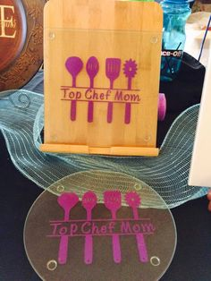 Top Chef Mom cutting board, great for Mother's Day